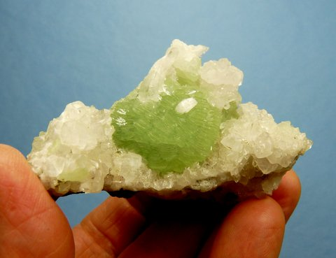 Gem quality prehnite ball on matrix - Brandberg, Namibia