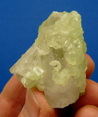 Prehnite and quartz crystal group