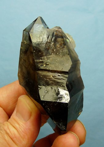 Smoky quartz crystal with unusual shape