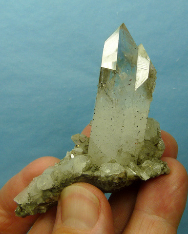 Quartz crystal with lovely light amethyst colouring ,on matrix