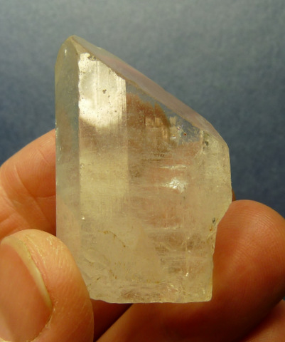 Topaz crystal with minute inclusions