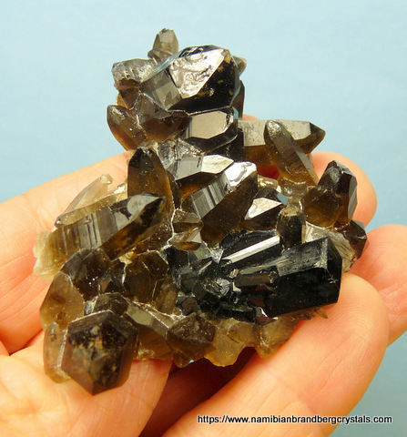 Cathedral quartz crystal with inclusions