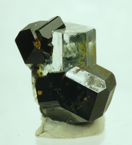 Schorl crystal with bits of aquamarine and feldspar