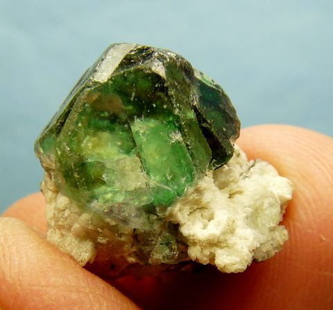 Group of green fluorite crystals with fairly good transparency