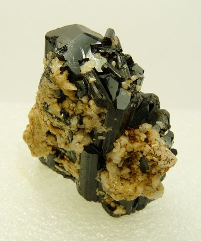Schorl crystal pair with beautiful facets