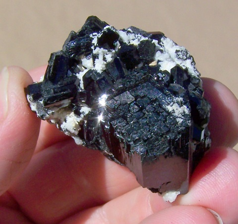 High quality, gemmy, double terminated black tourmaline / schorl crystal