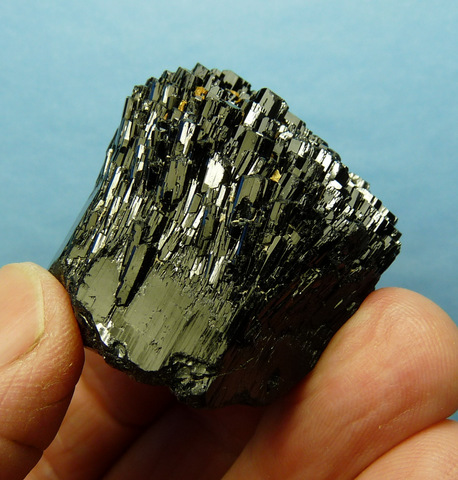 Schorl crystal with multiple terminations