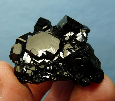 Schorl crystal group with beautiful, shiny faces.