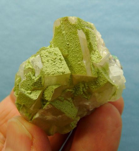 Cerussite crystal, most with twinned structure - Tsumeb