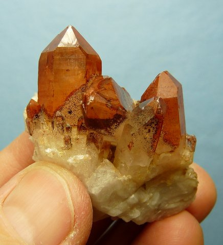 Smoky quartz crystal group