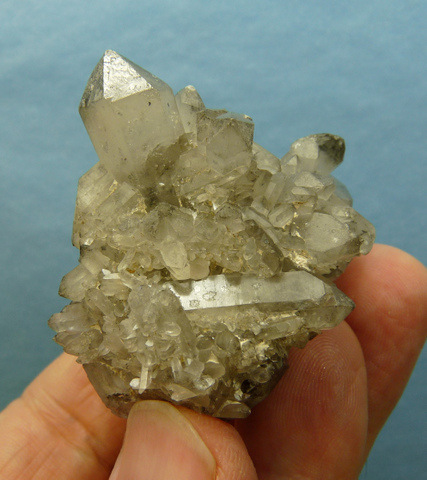 Botryoidal fluorite on chalcedony and quartz