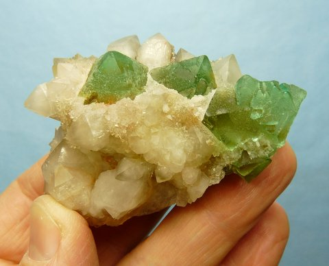 Fluorite and quartz specimen - uncommon specimen