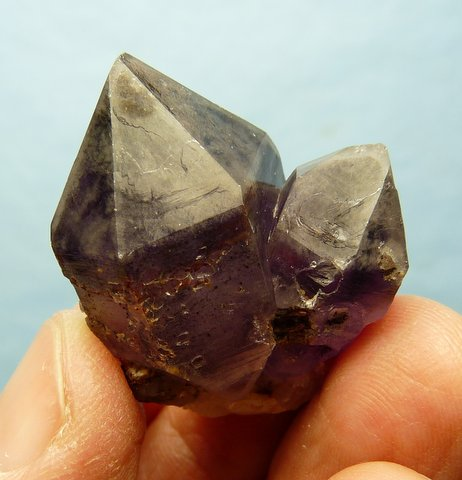 Amethyst quartz crystal group
