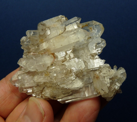 Beautiful two-sided quartz crystal cluster