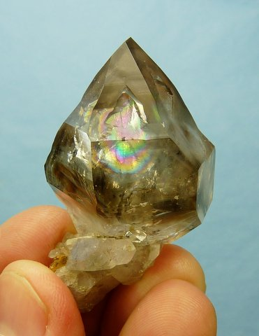 Stunning double terminated quartz crystal on quartz crystal cluster