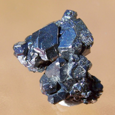 Carrollite cluster with metallic lustre and no apparent damage.