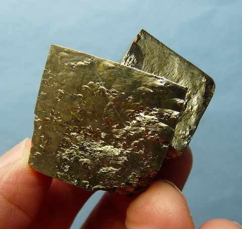A group of Spanish pyrite crystals