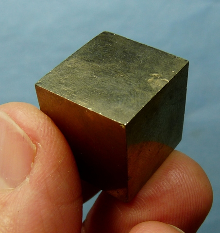 Pyrite crystal cube from Spain